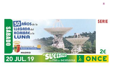 El cupón de la ONCE celebra el 50 aniversario de la llegada del hombre a la luna