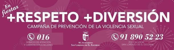 El Ayuntamiento de San Lorenzo lanza una campaña de prevención de la violencia sexual coincidiendo con sus Fiestas Patronales