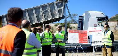 El Consejero de Transportes de la Comunidad de Madrid, Ángel Garrido, visitó las obras de mejora de la M-505