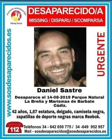 Encuentran sin vida en las Marismas de Barbate a Daniel Sastre García vecino de Hoyo de Manzanares