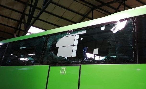 Ataques vandálicos contra la empresa IRUBÚS de San Lorenzo de El Escorial