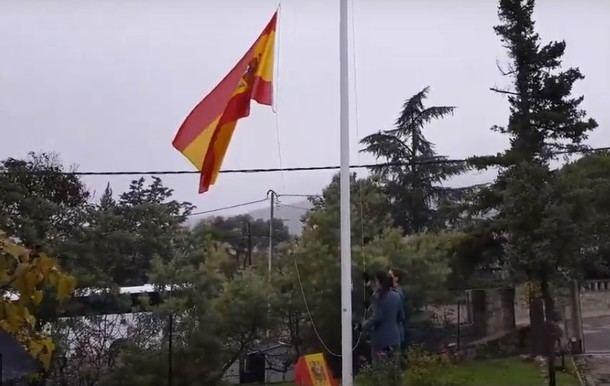 Emotivo homenaje de los vecinos de Hoyo de Manzanares a la Guardia Civil