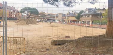 La misteriosa paralización de la obra de remodelación de la Plaza de Los Belgas de Collado Villalba