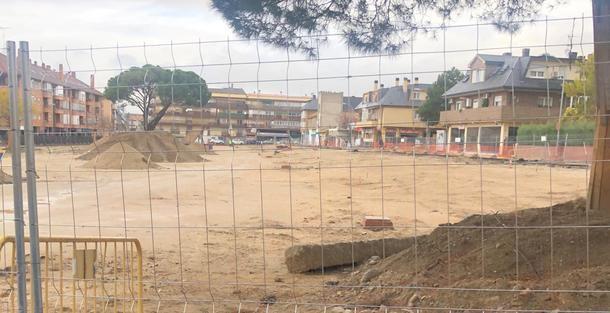 Obras de remodelación de la Plaza de Los Belgas