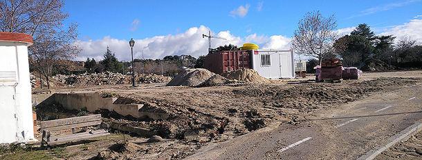 Paralizadas las obras de remodelación de Prado Grande en Torrelodones