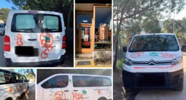 VOX Torrelodones denuncia un acto vandálico contra un colegio de la localidad, con 'mensajes de odio' a éste partido