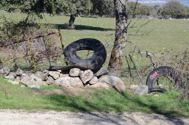 Abandono de muros de piedra seca en la Sierra de Guadarrama