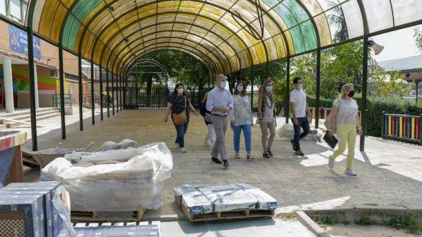 Avanzan las obras en colegios públicos de Majadahonda