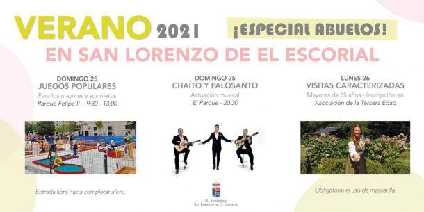 San Lorenzo celebra el Día de los Abuelos con juegos populares, un concierto y dos visitas especiales