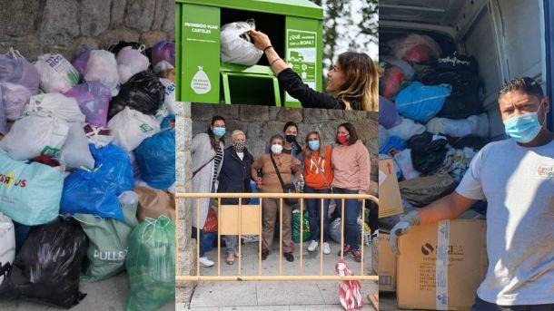 Guadarrama se vuelca con el reciclaje de ropa a través de los contenedores y las iniciativas solidarias de recogida