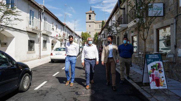 La Comunidad de Madrid invierte 492.000 euros en las obras de rehabilitación del centro histórico de Valdemorillo