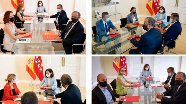 Nuevo curso político: Ayuso se reúne con los portavoces parlamentarios de la oposición