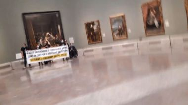 Un grupo de víctimas del aceite de colza se encerró el pasado 19 de octubre en el Museo del Prado de Madrid