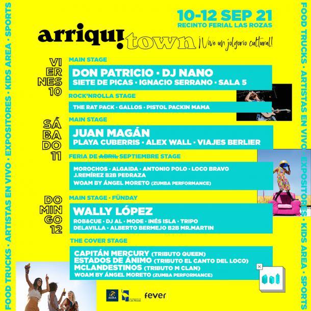 Don Patricio, DJ Nano y Juan Magán, platos fuertes del festival ArriquiTown