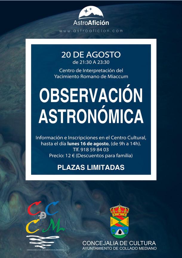 Jornada de observación astronómica en Collado Mediano